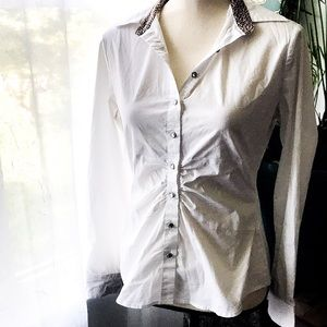 New York And Company Gem Buttondown Blouse
